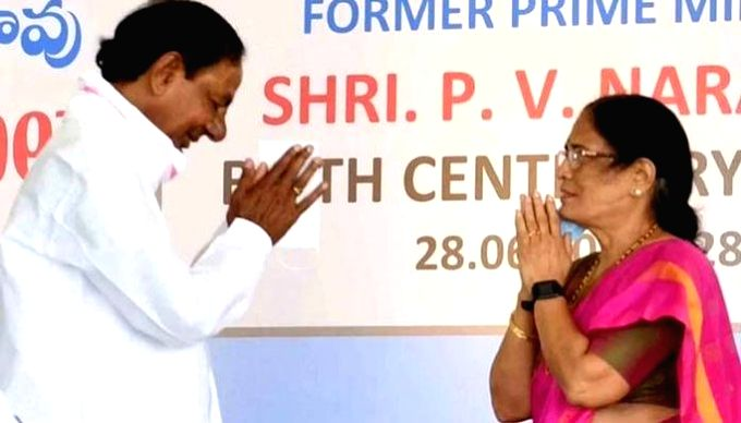 Ex-PM PV's daughter TRS candidate in Telangana Council polls