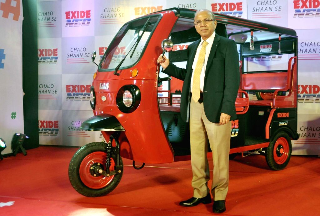 """Exide Industries Ltd MD and CEO Gautam Chatterjee during the lunch of new electric vehicle """"Exide Neo"""", in Kolkata on Oct 16, 2019. - Gautam Chatterjee"""