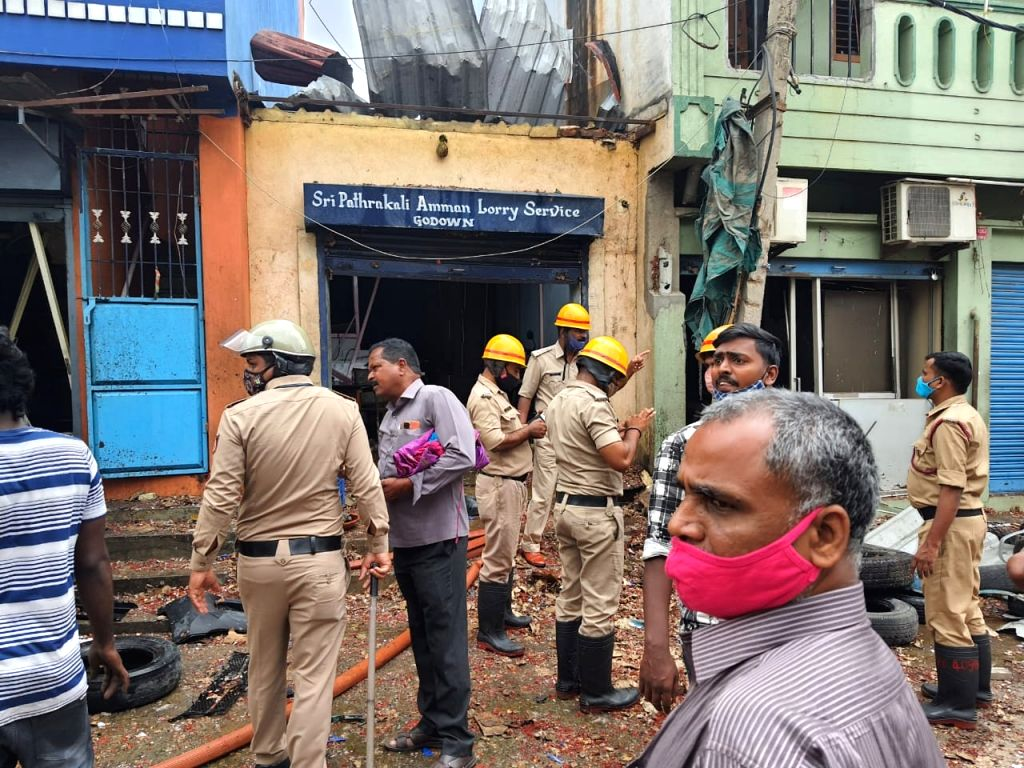 explosion in Bengaluru, 3 dead, 4 serious, 10 bikes gutted.
