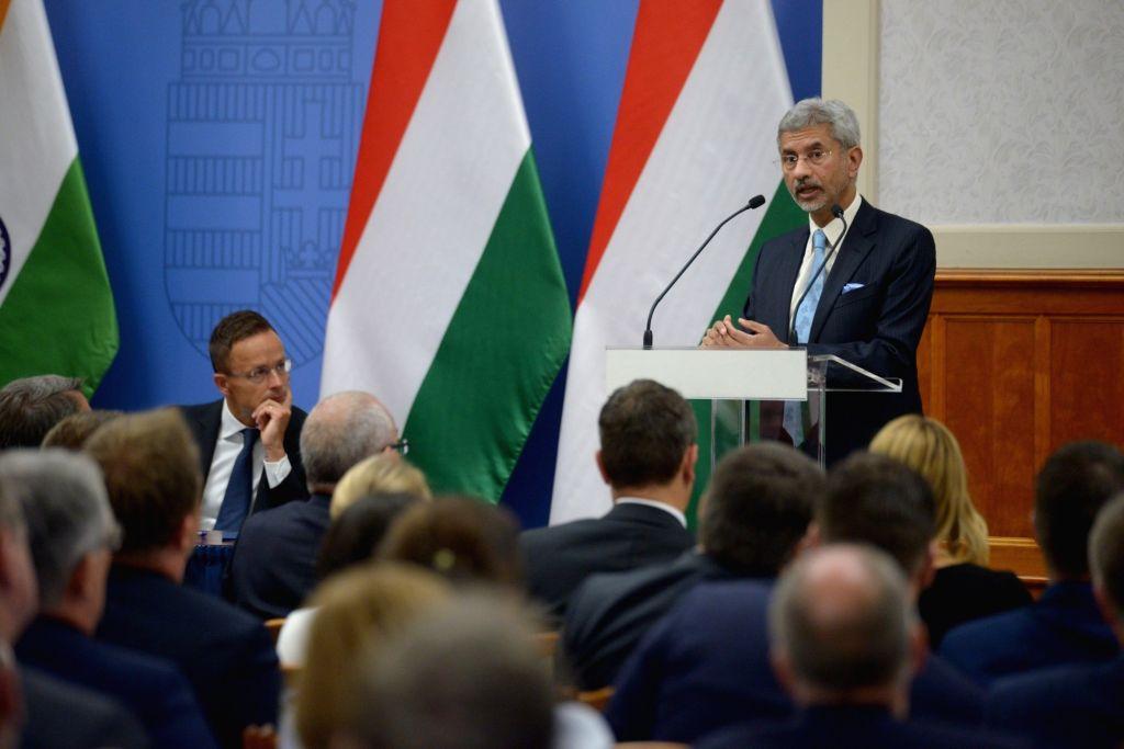 External Affairs Minister S. Jaishankar addresses at the Hungarian Annual Ambassadors' Conference in Budapest, Hungary on Aug 26, 2019. - S. Jaishankar