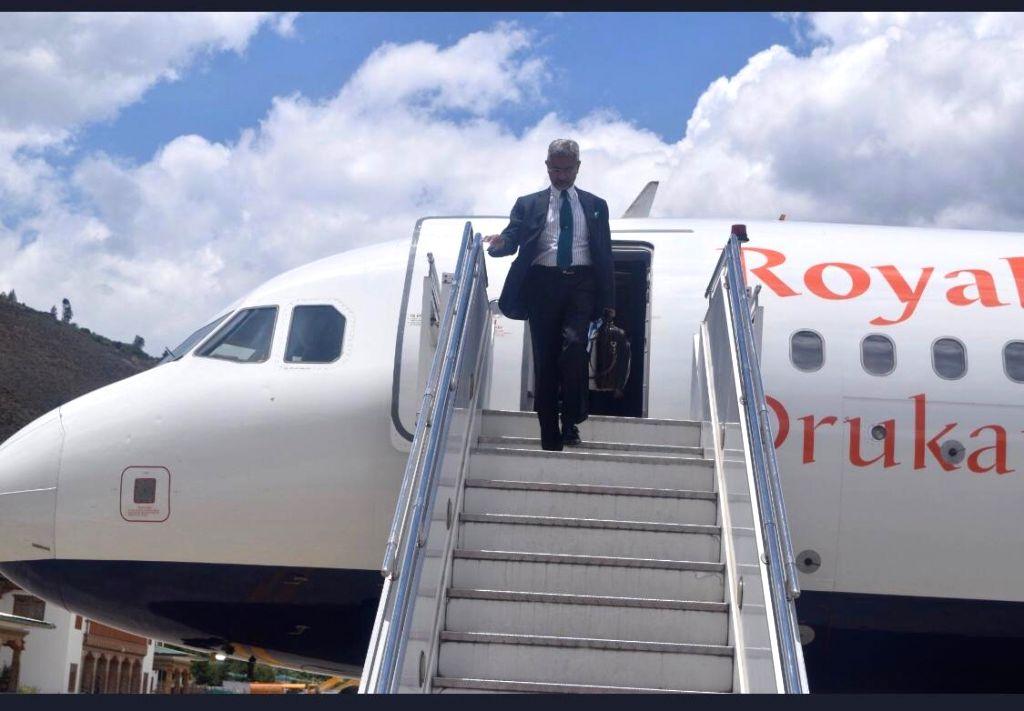 External Affairs Minister S. Jaishankar arrives in Bhutan on a two-day official visit, on June 7, 2019. Jaishankar traveled to Thimpu via commercial airliner Bhutan Airlines. Perhaps for the ... - S. Jaishankar