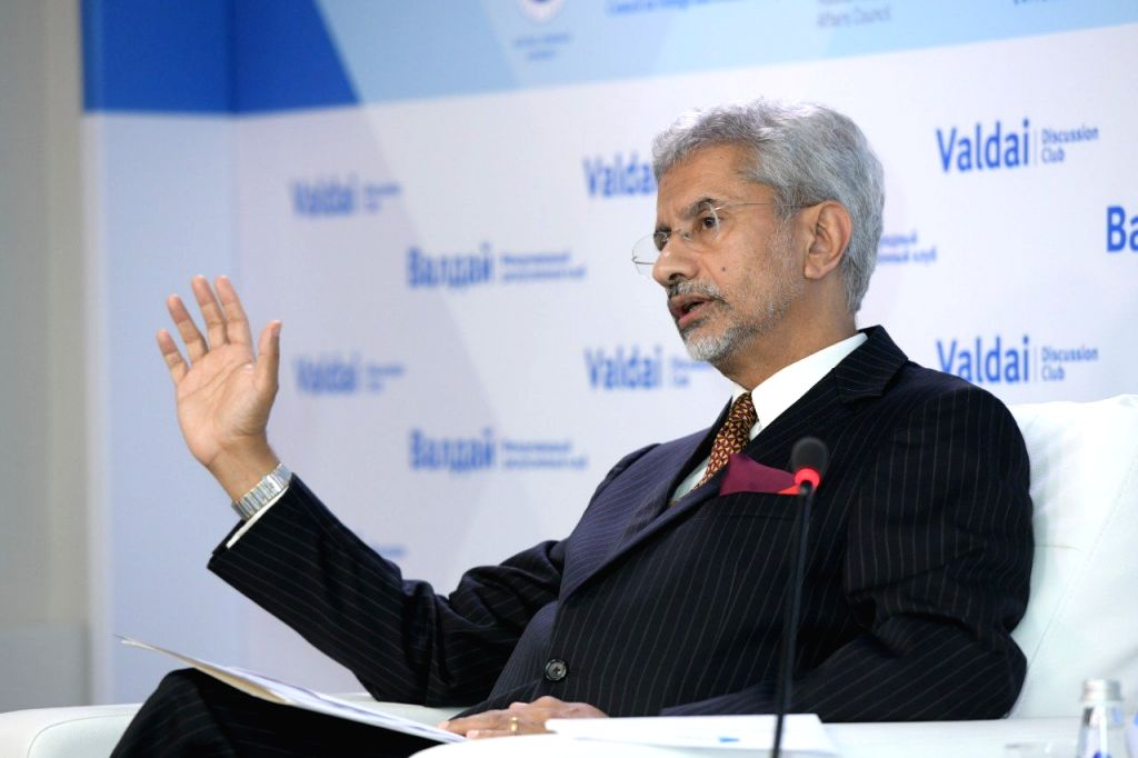"External Affairs Minister S. Jaishankar during a discussion on the topic ""India's perspective on the Indo-Pacific"" in Moscow on Aug 27, 2019. - S. Jaishankar"