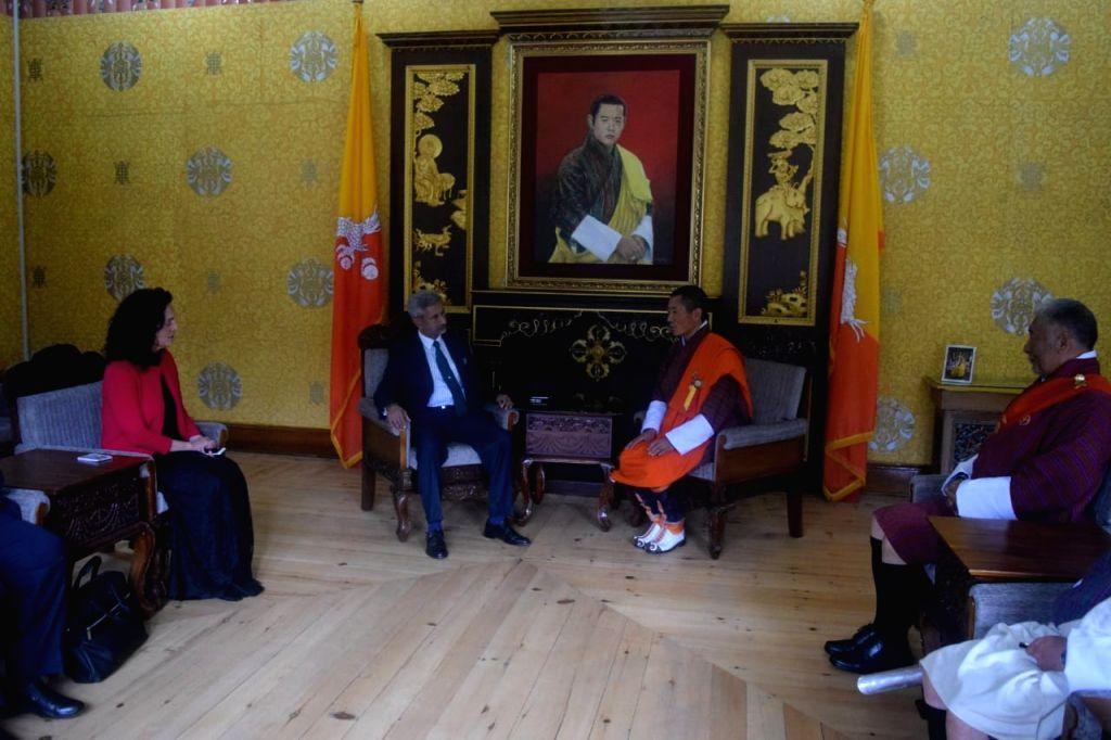 External Affairs Minister S. Jaishankar meets Bhutan Prime Minister Lotay Tshering, in Thimphu on June 7, 2019. - S. Jaishankar