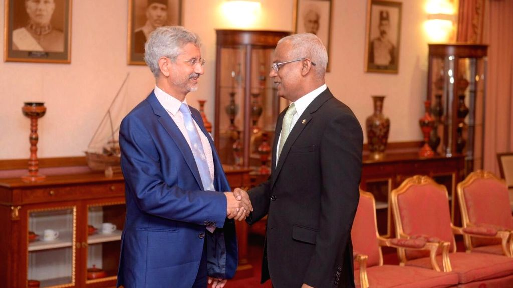 External Affairs Minister S. Jaishankar meets Maldives President Ibrahim Mohamed Solih, in Male on Sep 4, 2019. - S. Jaishankar