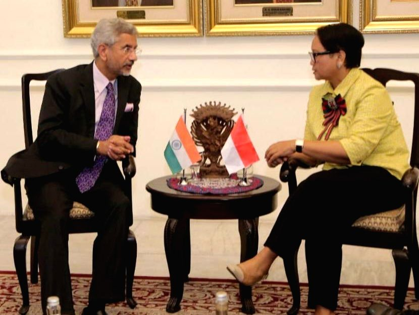 External Affairs Minister S. Jaishankar meets Indonesian Foreign Affairs Minister Retno Lestari Priansari Marsudi in Jakarta on Sep 5, 2019. - S. Jaishankar