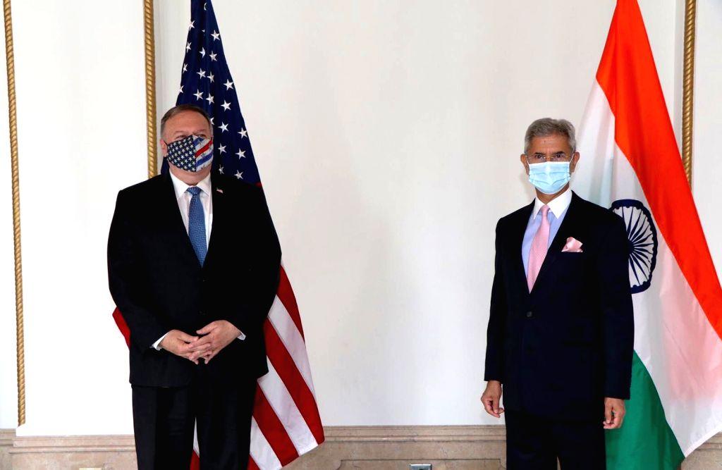 External Affairs Minister S. Jaishankar meets US Secretary of State Mike Pompeo in Tokyo, Japan on Oct 6, 2020. - S. Jaishankar
