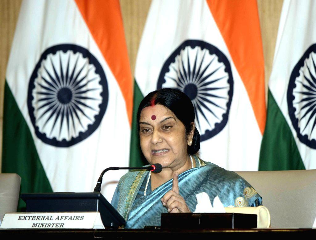 External Affairs Minister Sushma Swaraj. (File Photo: IANS) - Sushma Swaraj