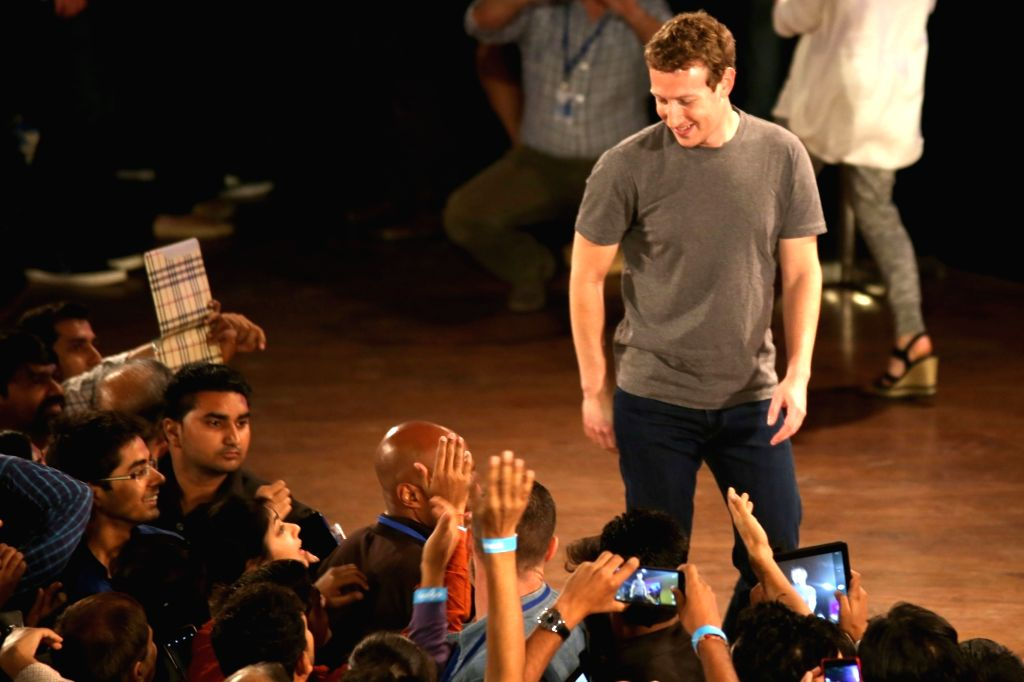 Facebook founder Mark Zuckerberg during a Q&A session with IIT students in New Delhi on Oct 28, 2015. (File Photo: Amlan Paliwal/IANS)