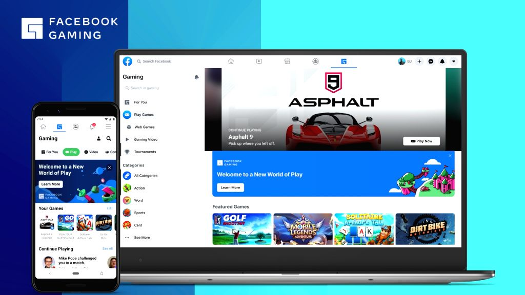 Facebook Gaming arrives on Android with new games, ditches Apple.