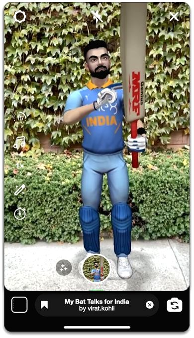 Facebook, Instagram launches AR effect featuring Kohli