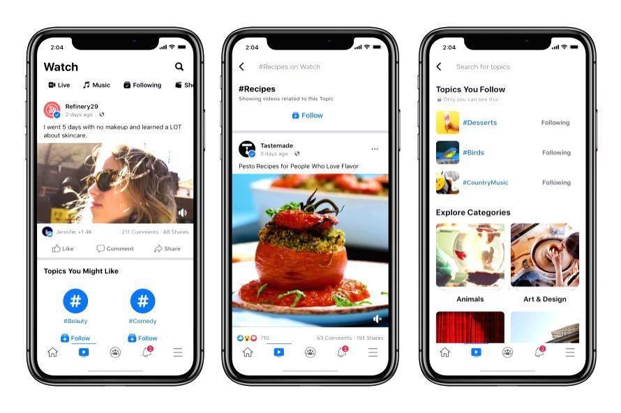 Facebook introduces new ways to find videos in Watch platform.