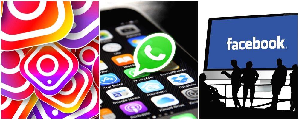 Facebook, Whatsapp and Instagram