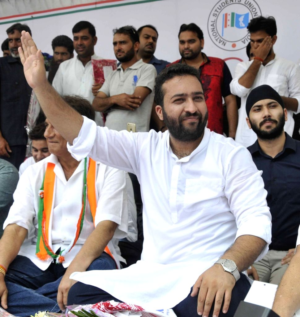 Fairoz Khan takes charge as NSUI President during a programme in New Delhi on June 22, 2017. - Fairoz Khan
