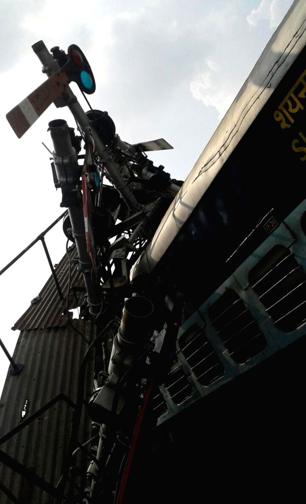 Faizabad, The mangled bogies of Doon Express that got derailed in Uttar Pradesh's Faizabad on Sept 20, 2016.