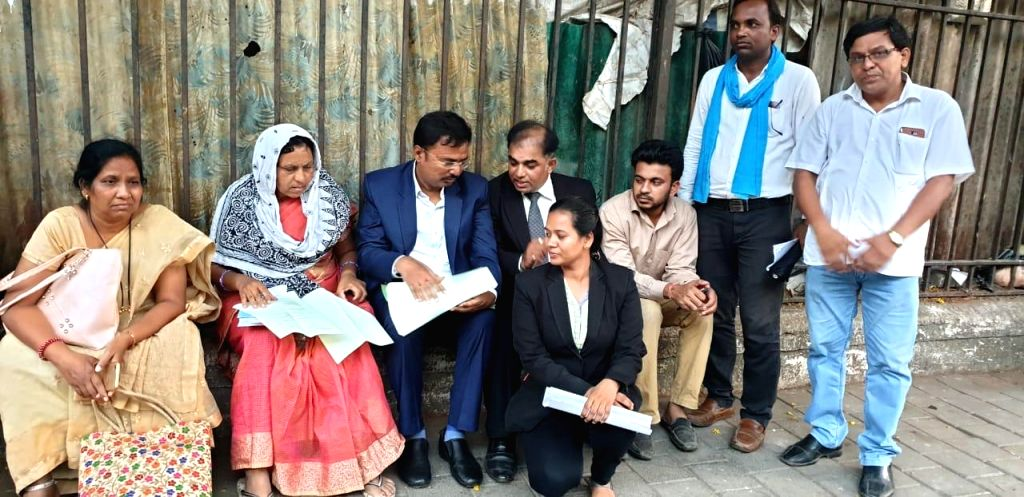 Family members of Payal Salman Tadvi, a medical student who allegedly committed suicide, stage a demonstration outside the Nair Hospital where Payal was a was a postgraduate student, in ...
