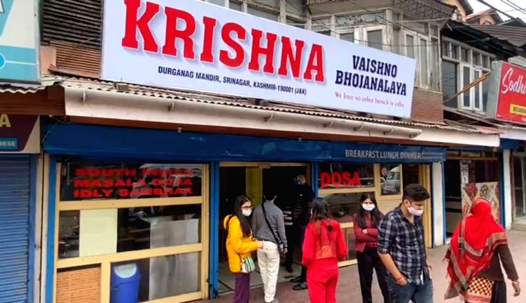 famous vegetarian restaurant 'Krishna Dhaba'.
