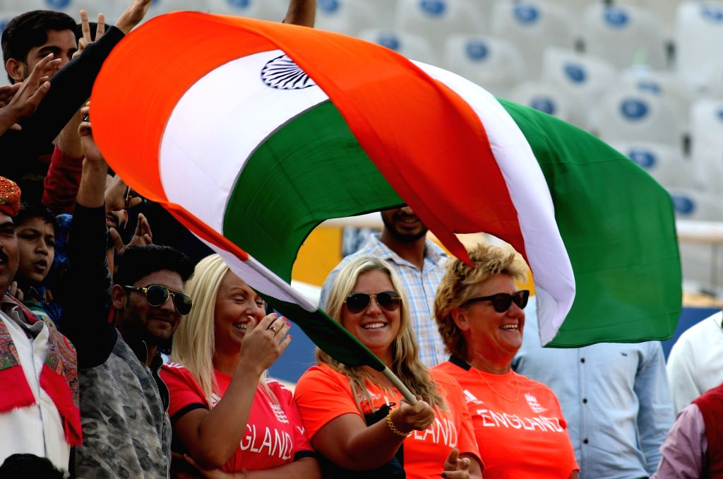 Fans cheers on Day 3 of the third test match between India and England at Punjab Cricket Association IS Bindra Stadium, Mohali on Nov 28, 2016.