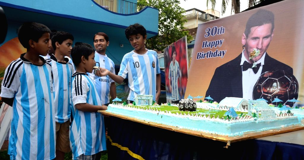 Fans of Argentine footballer Lionel Messi celebrate his 30th birthday in Kolkata on June 24, 2017.