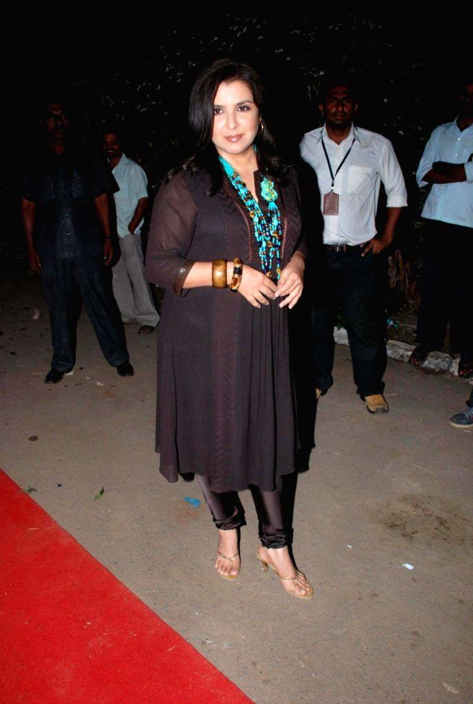 Farah Khan at Star Parivaar awards.