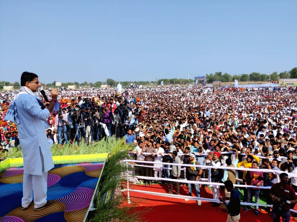 Farm laws against farmers, Sachin Pilot says at large Kisan Mahapanchayat