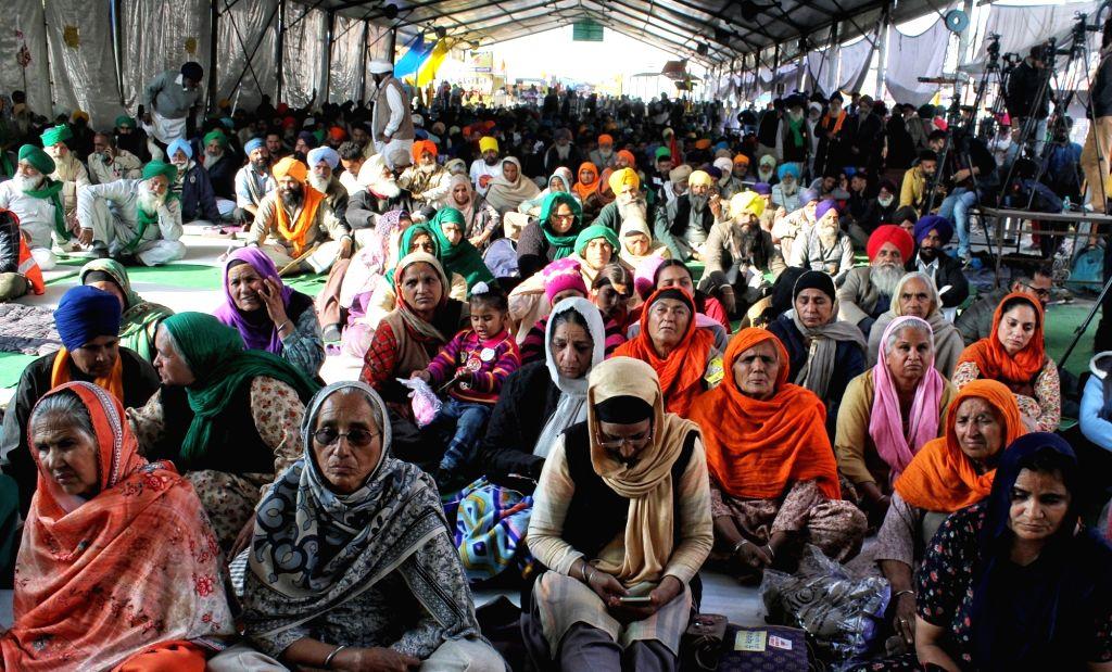 Farmer's protest at Singhu Border on Wednesday, 27 January 2021 (CREDIT:IANS/Qamar sibtain)