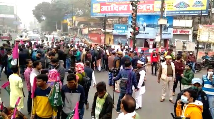 farmers at Dak Banglow Chowk Patna