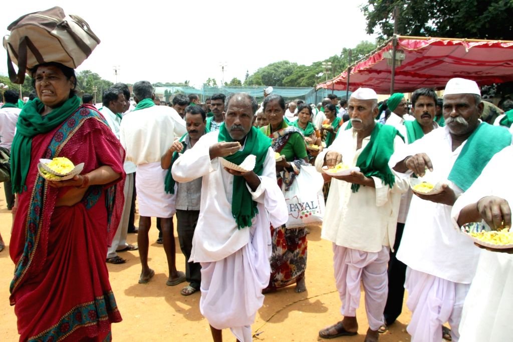 Farmers during the 'Farmers Conference' in Bengaluru, on May 27, 2016.
