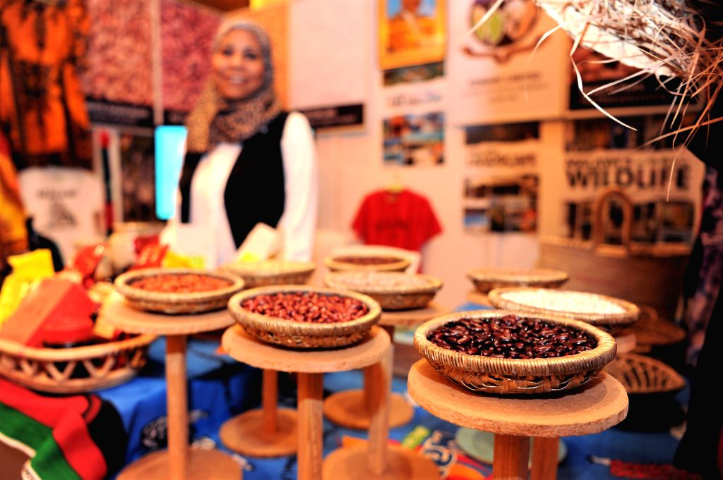 FARWANIYA GOVERNORATE (KUWAIT), Dec. 8, 2019 Beans are on display at an exhibition during the Africa Day celebration in Farwaniya Governorate, Kuwait, on Dec. 8, 2019. Embassies of more ...