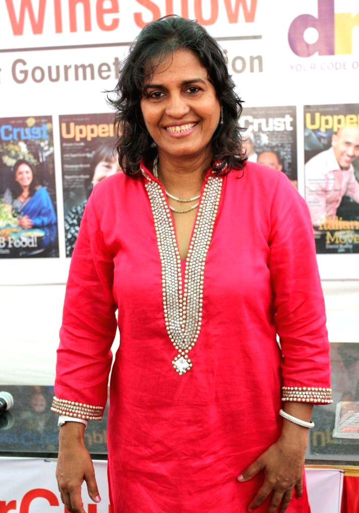 Farzana Contractor, Editor, UpperCrust during the 11th UpperCrust Food and Wine Show in Mumbai on Dec.6, 2013.