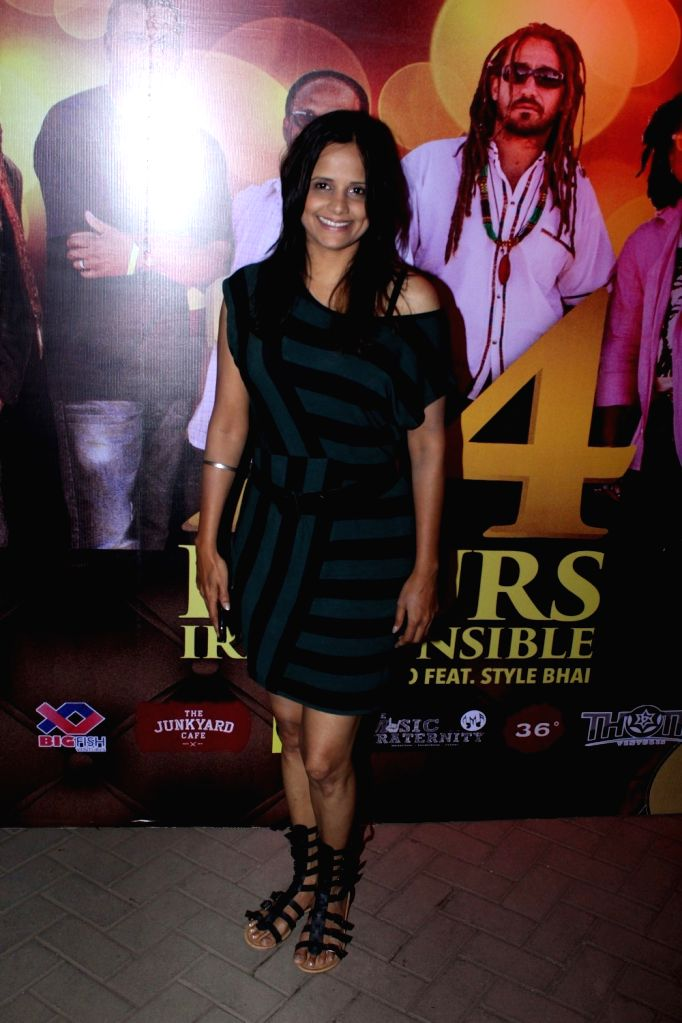 Fashion choreographer DJ Nisha Harale during the launch of music album titled '24 Hours - Irresponsible' by singer Shibani Kashyap in collaboration with music band Big Mountain in Mumbai on ... - Shibani Kashyap