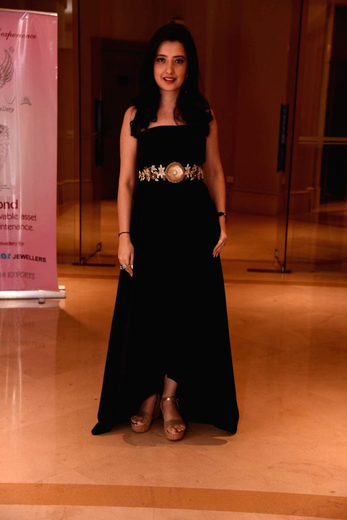 Fashion designer Amy Billimoria during the Mumbai Obstetrics and Gynecological Society's annual fashion show for Save the Girl Child cause in Mumbai on March 11, 2017.