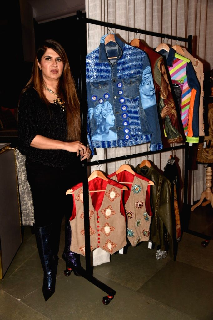 Fashion designer Ana Singh during the launch of her Christian art collection, in Mumbai on Dec 14, 2019. - Singh