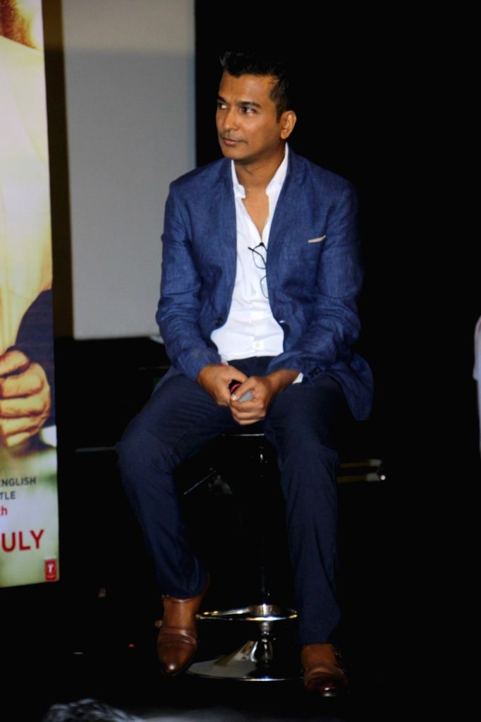 Fashion designer and filmmaker Vikram Phadnis during the trailer launch of Marathi film Hrudayantar in Mumbai on May 28, 2017.