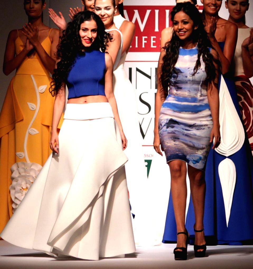 Fashion Designer duo Gauri and Nainika. (File Photo: IANS)