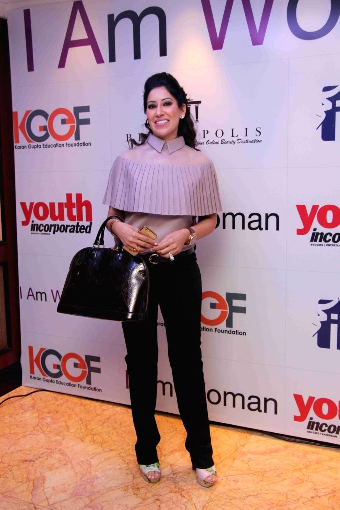 Fashion designer Maheka Mirpuri during I am Woman event, in Mumbai on April 5, 2016.