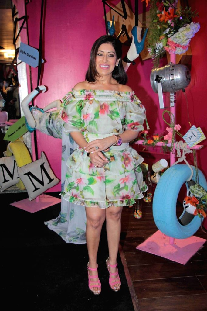 Fashion designer Maheka Mirpuri during the preview of her summer collection, in Mumbai, on April 21, 2016.