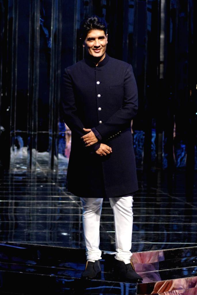 Fashion designer Manish Malhotra at his haute couture show, in Mumbai on Aug 1, 2018. - Manish Malhotra