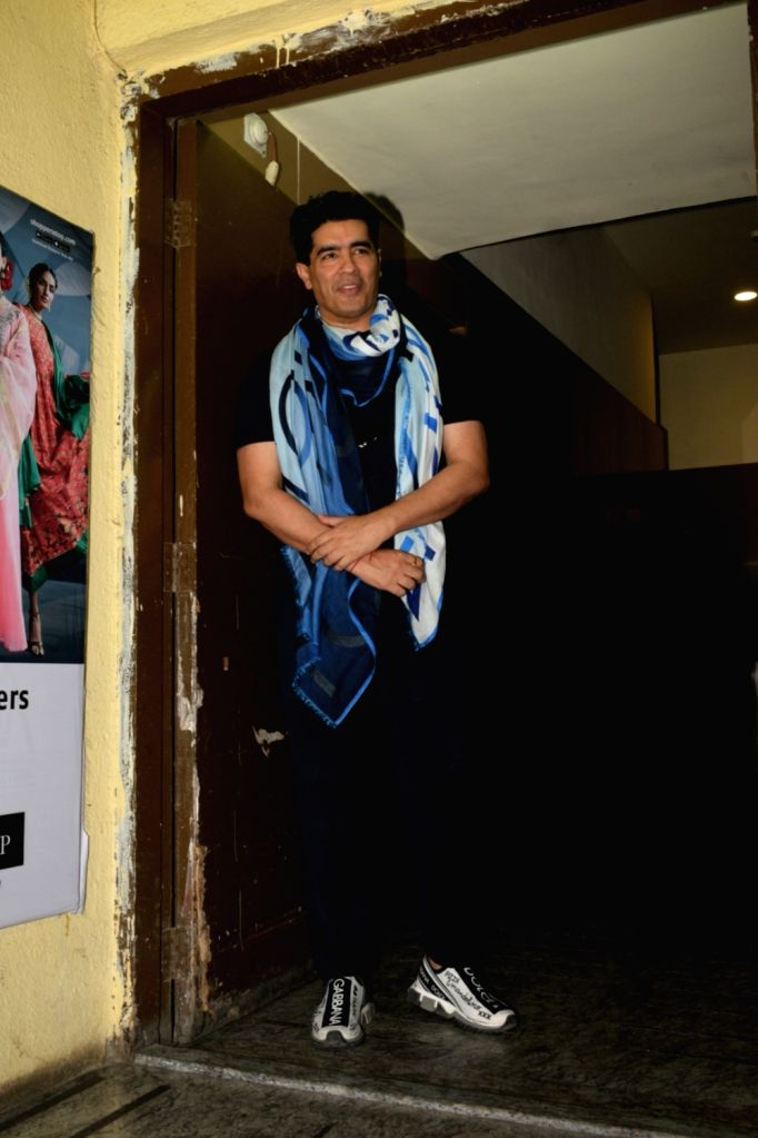 "Fashion designer Manish Malhotra at the screening of upcoming film ""Kalank"" in Mumbai, on April 14, 2019. - Manish Malhotra"