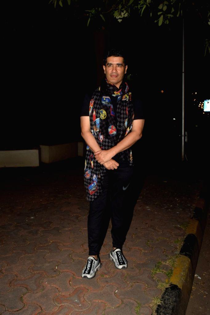 Fashion designer Manish Malhotra seen at Bandra in Mumbai on Oct 16, 2019. - Manish Malhotra