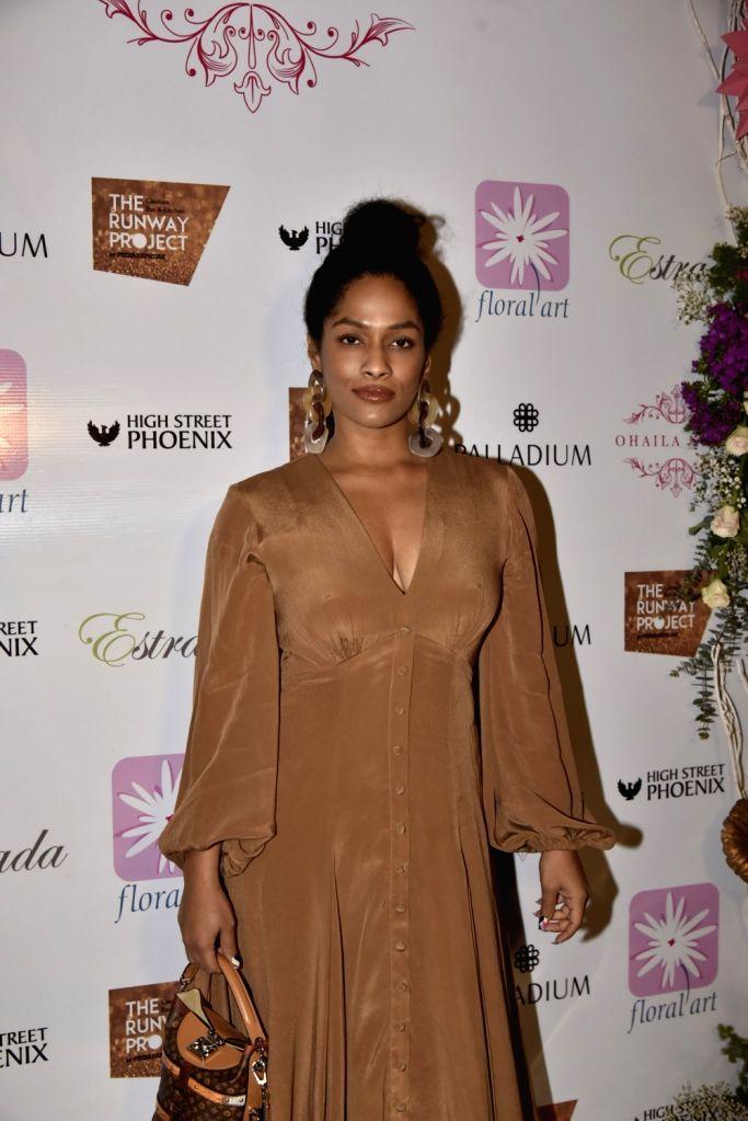 Fashion designer Masaba Gupta at fashion designer Ohaila Khan's collection preview in Mumbai, on Feb 13, 2019. - Masaba Gupta and Ohaila Khan