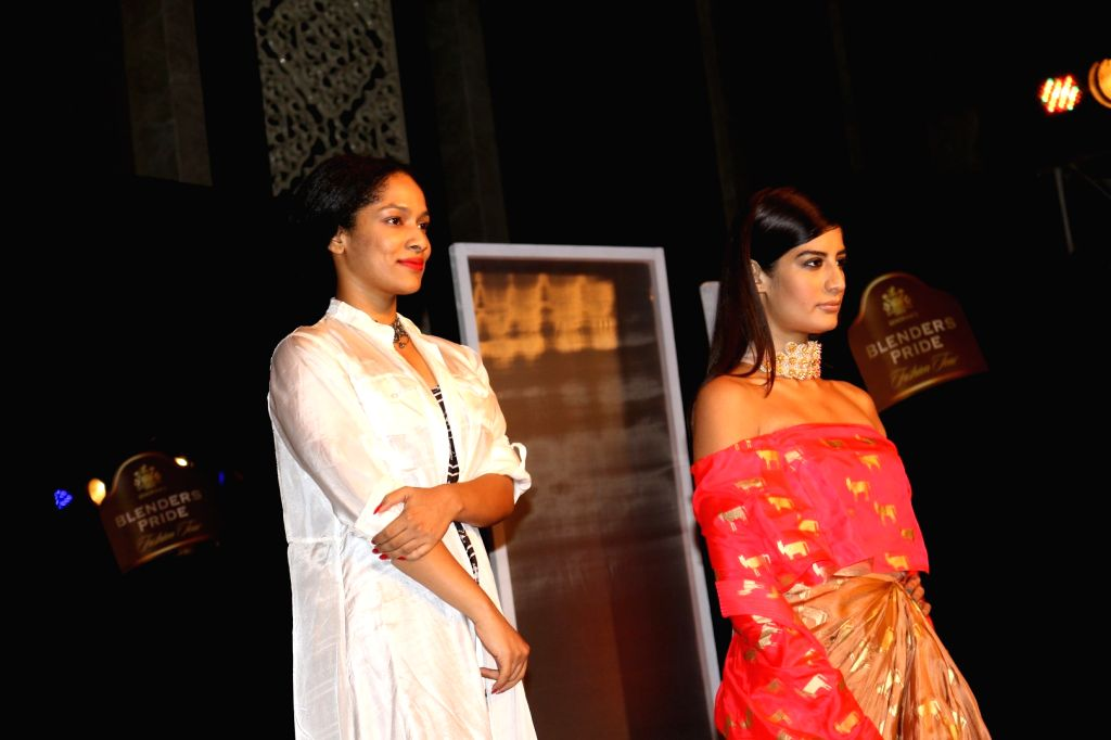 Fashion designer Masaba Gupta during the unveiling of Reflections of Style at the preview of Blenders Pride Fashion Tour in Mumbai, on Oct 3, 2016. - Masaba Gupta