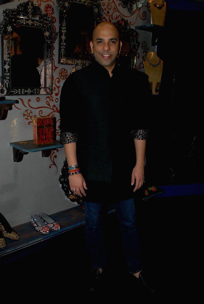 Fashion designer Mayyur Girotra during the opening his store in Mumbai, on April 18, 2014.