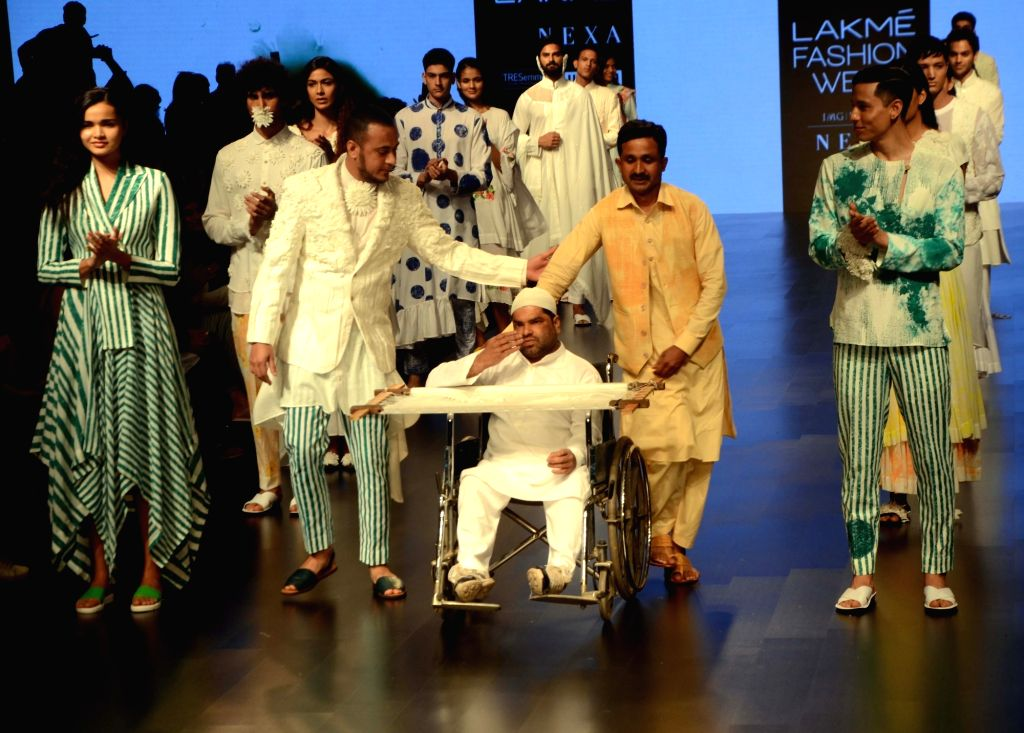 Fashion designer Mohammed Mazhar at Lakme Fashion Week (LFW) Summer/Resort 2019 in Mumbai, on Feb 2, 2019.