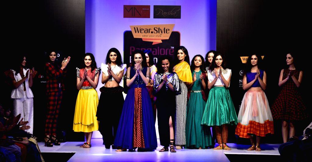 Fashion designer Parinitha Malavalli Nagaraju at Vancouver Fashion Week.