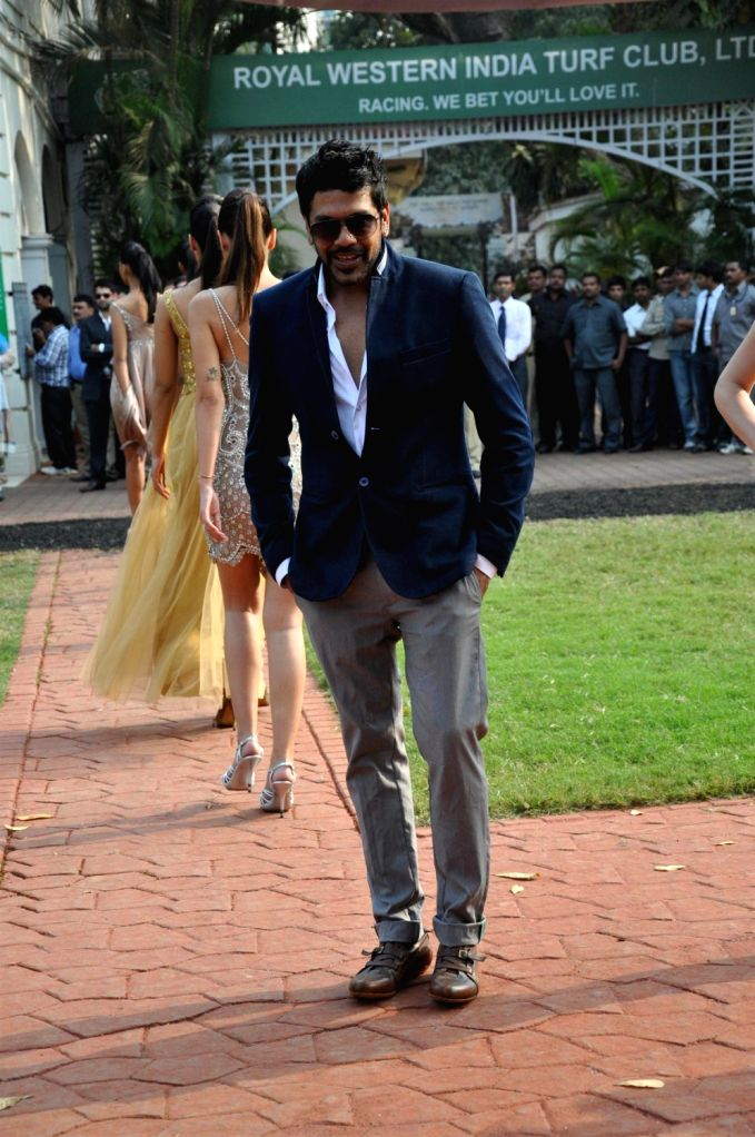Fashion designer Rocky S at McDowell Signature Premium Indian Derby 2013 in Mahalaxmi Race Course, Mumbai on Sunday, February 3rd, evening.