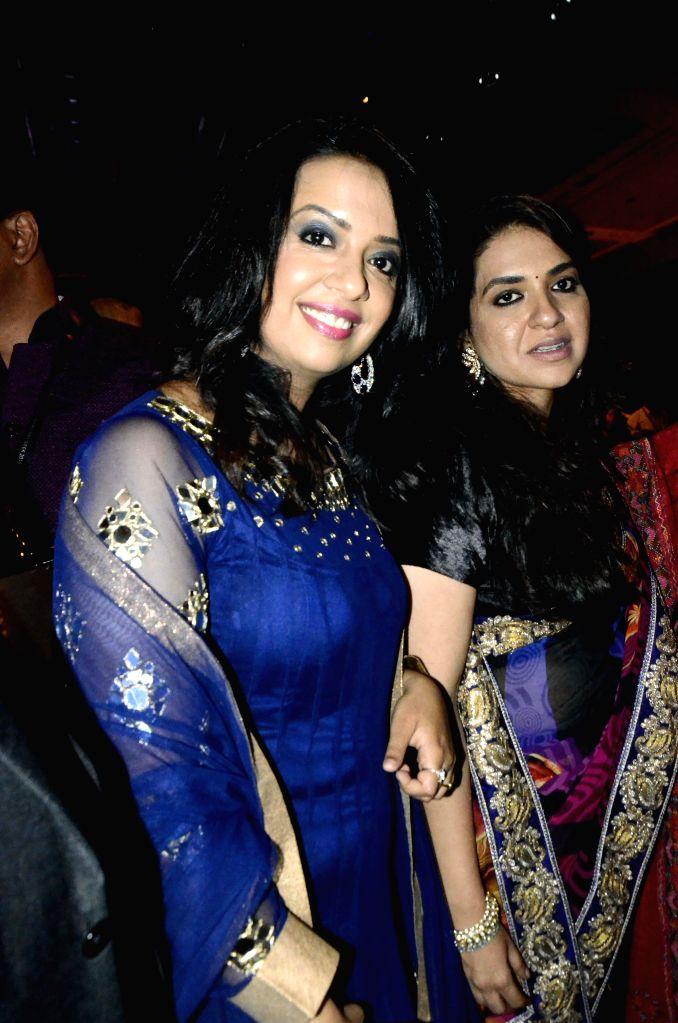 Fashion designer Shaina NC during her show at the India International Jewellery Week 2015, in Mumbai on Aug 3, 2015.