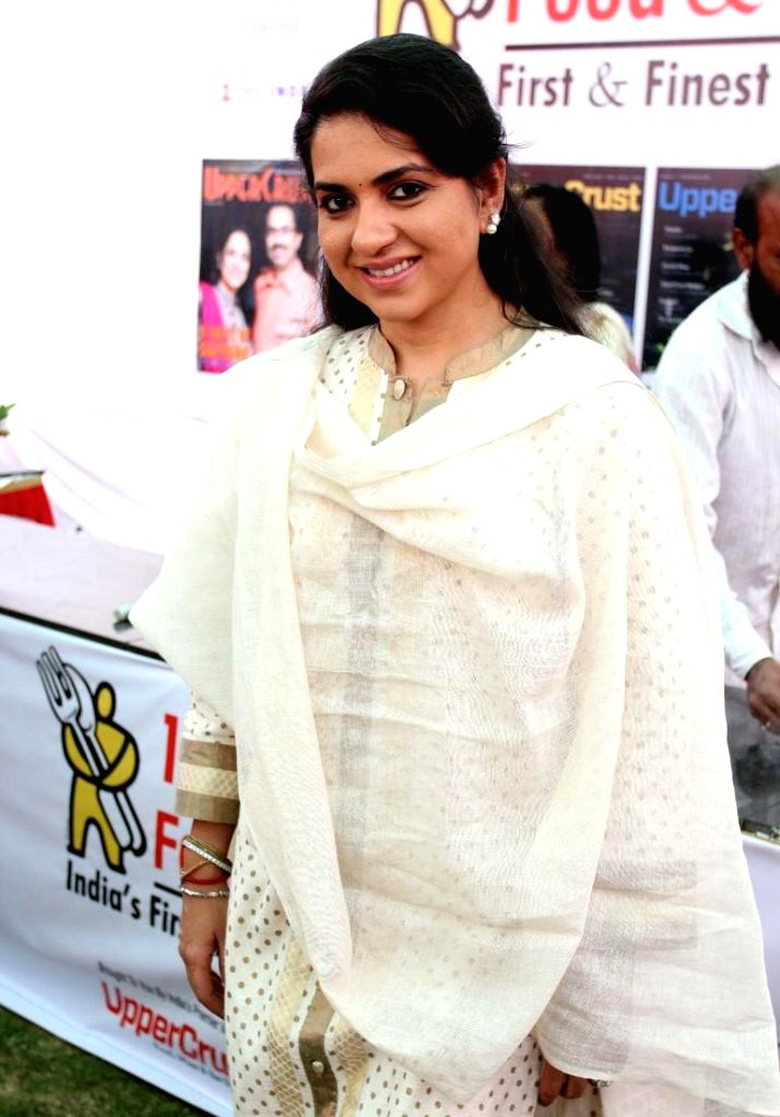 Fashion designer Shaina NC during the 11th UpperCrust Food and Wine Show in Mumbai on Dec.6, 2013.
