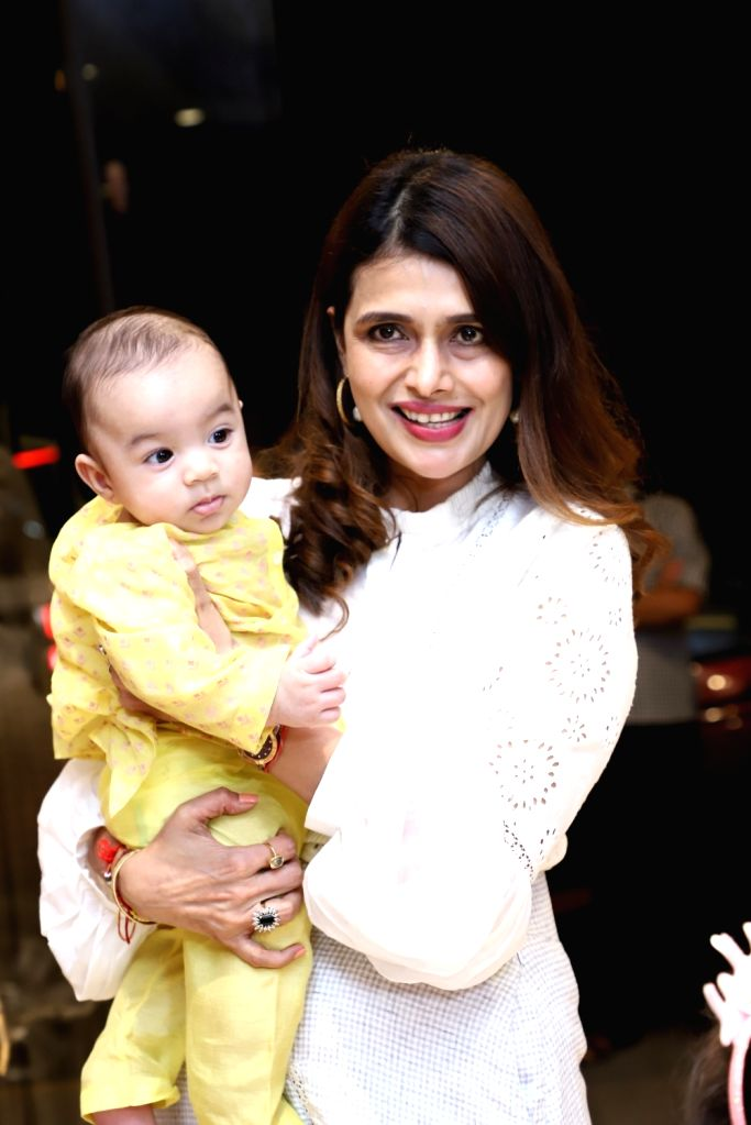 Fashion designer Shruti Sancheti at the launch of her new apparel collection, in Mumbai on April 25, 2019.