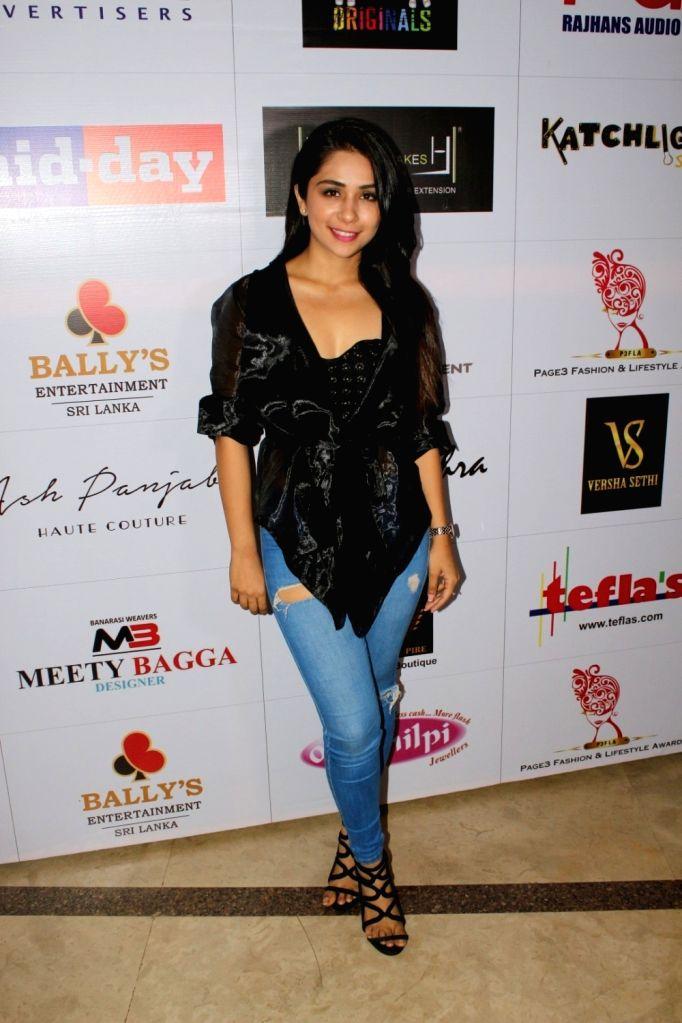 """Fashion designer Sonaakshi Raaj at """"Page3 Fashion & Lifestyle Awards"""" in Mumbai on Sept 15, 2017."""