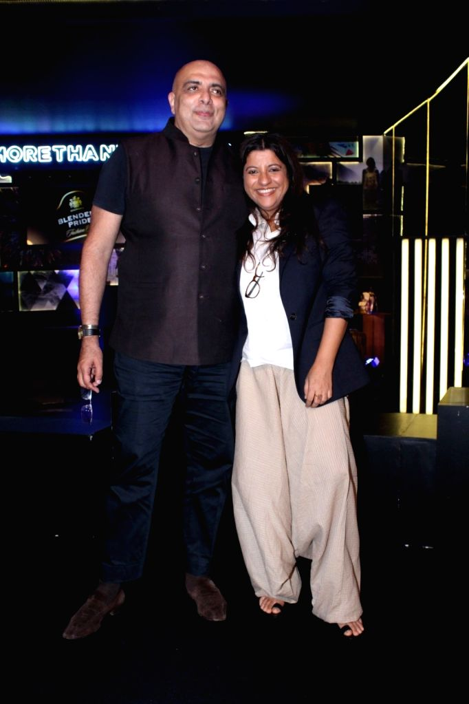"Fashion Designer Tarun Tahiliani and Director Zoya Akhtar during the ""Blenders Pride Fashion Tour 2017"" in Mumbai on Oct 5, 2017."